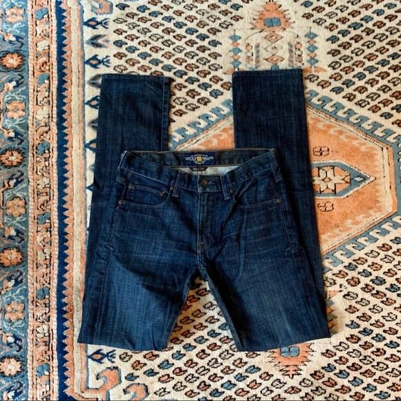 Lucky Brand Dean Slim Straight Jeans 28 x 34